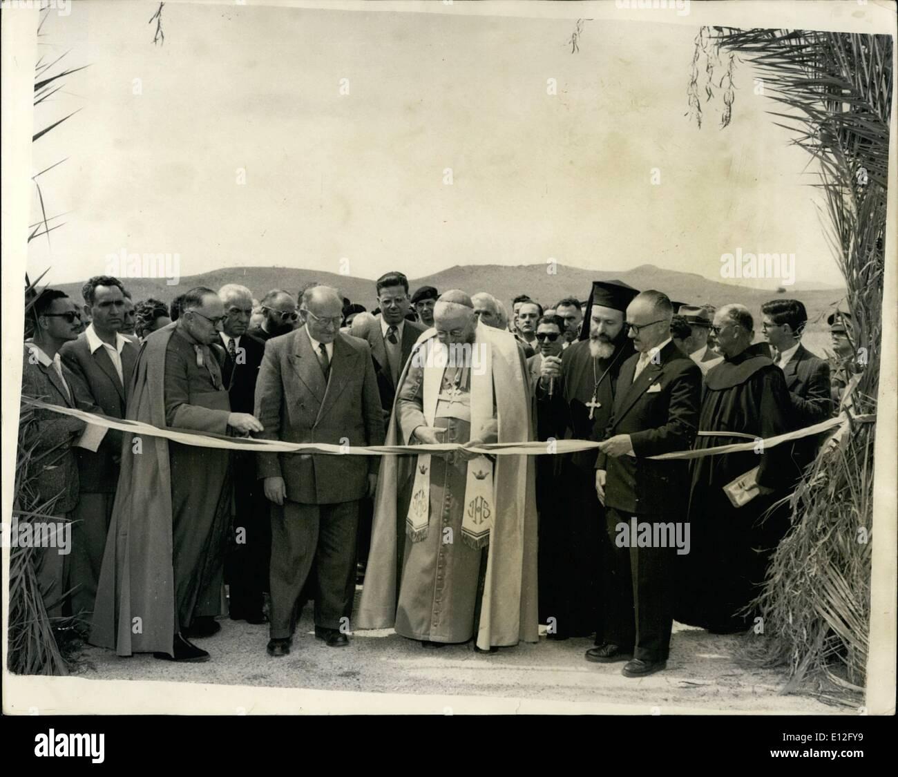 9. Januar 2012 - der lateinische Patriarch von Palästina öffnet neue Straße zu den Heiligen Stätten: Stockbild