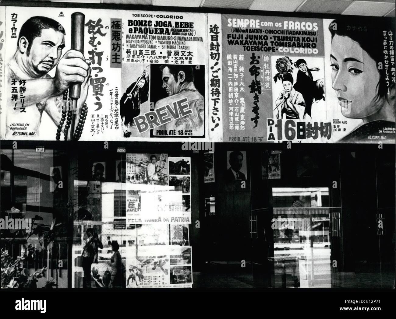 24. Februar 2012 - japanische Filme. Sao Paulo - Brasilien Stockbild