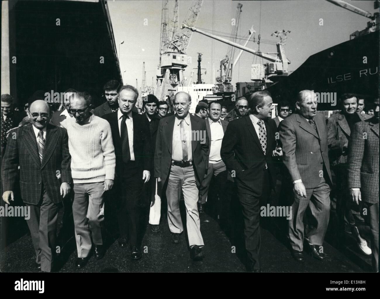 27. März 2012 - Premiere Ytzak Rabin Stockbild