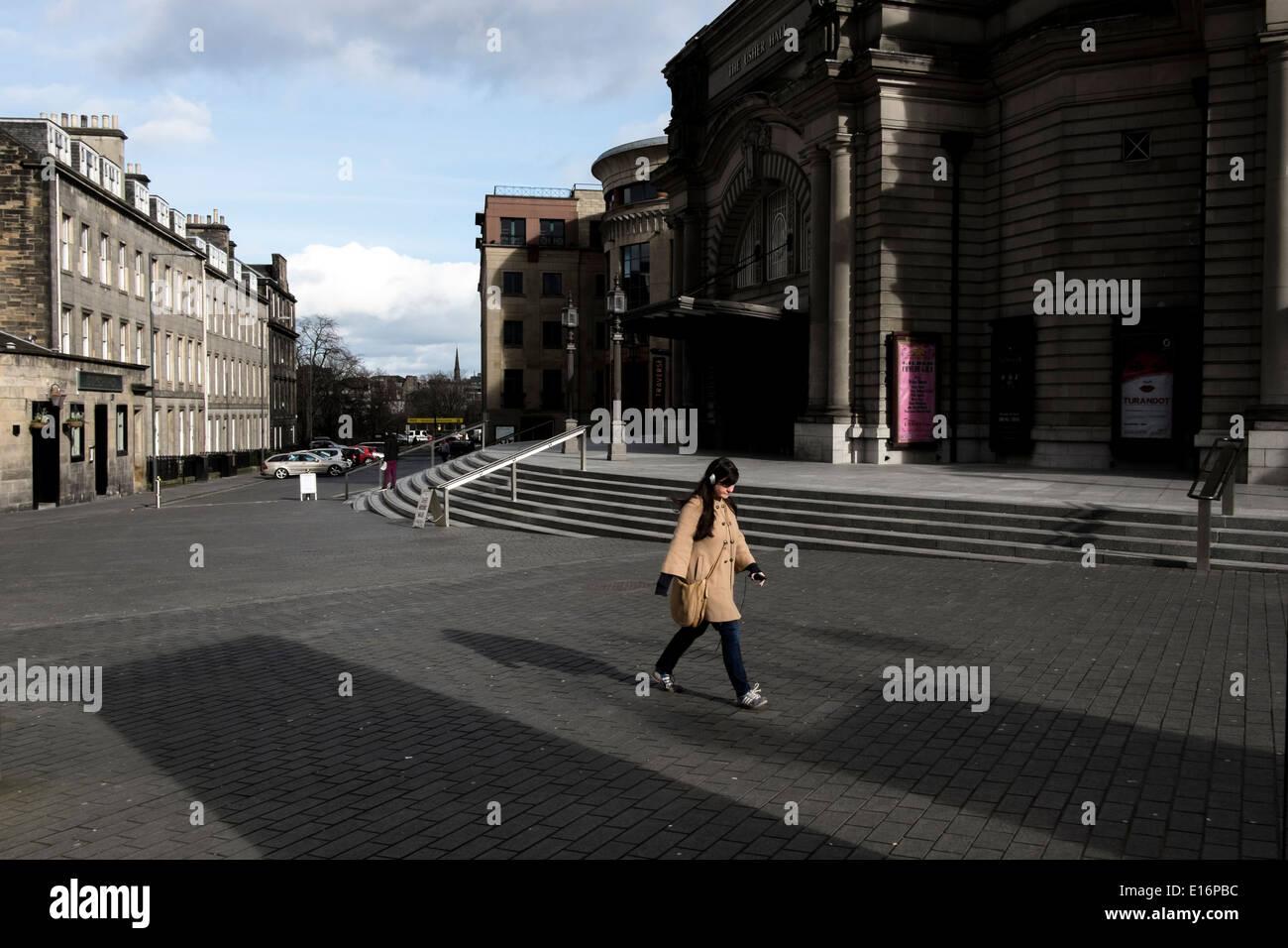 Edinburgh Straße Fußgängerzone Alltag Stockbild