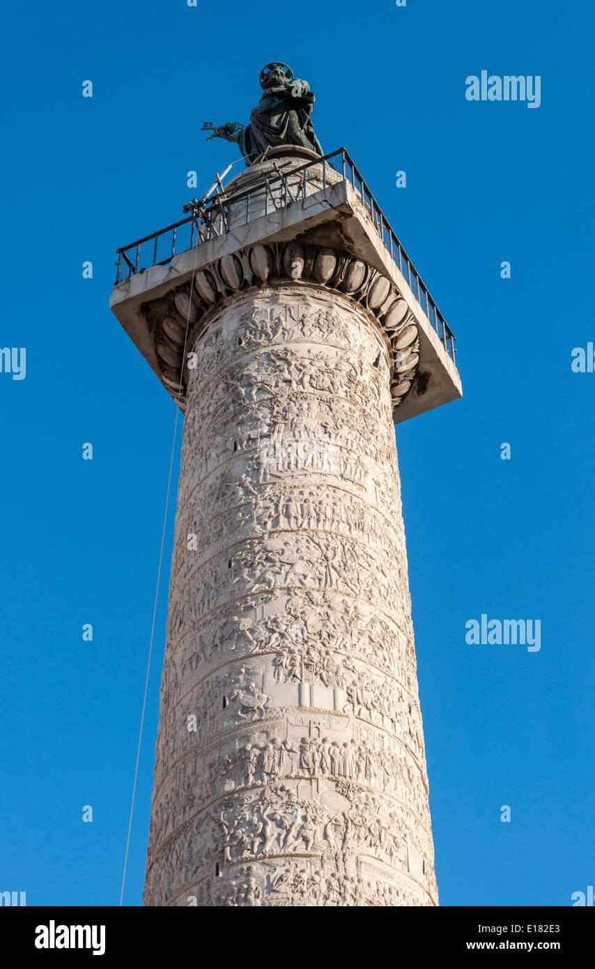 Spalte von Trajan, Rom, Italien Stockbild