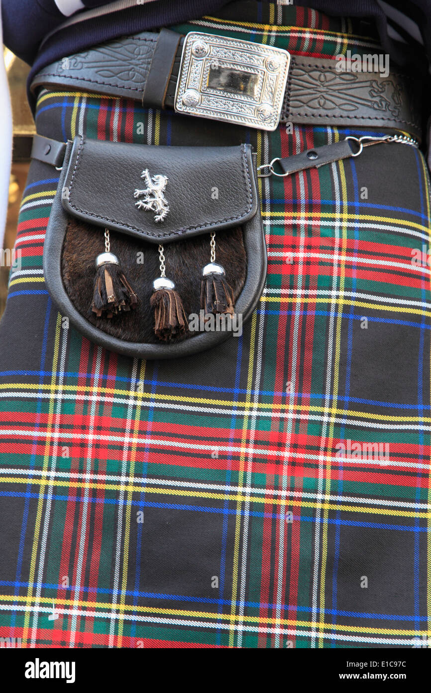 UK, Schottland, Edinburgh, Kilt, traditionelle Herrenbekleidung, Stockbild