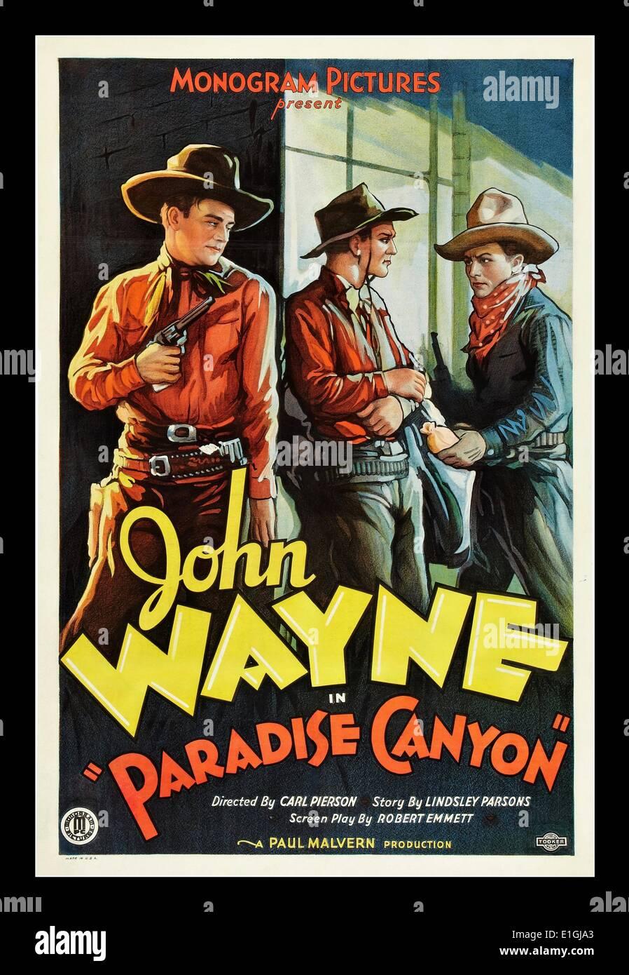 """Paradise Canyon"" ein 1935 westlichen Film mit John Wayne Stockbild"
