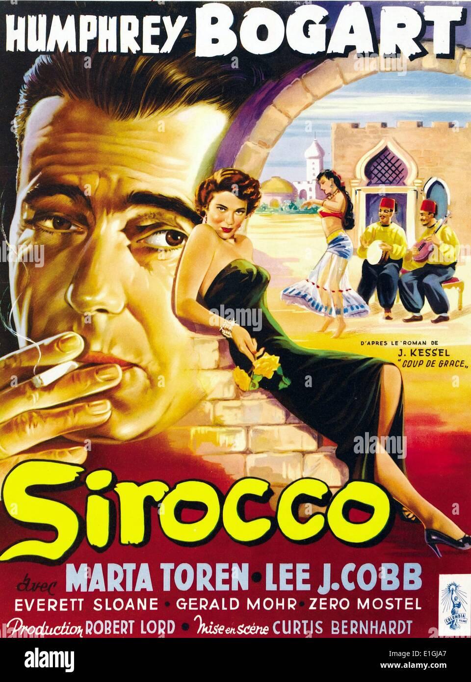 """""""Sirocco"""" 1951 amerikanischen Film Noir mit Humphrey Bogart. Stockbild"""