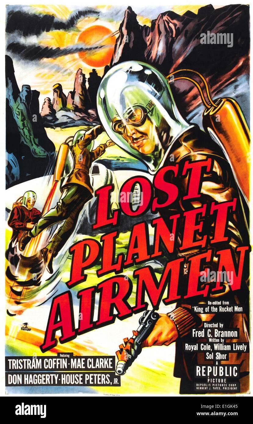 """""""Verlorene Planet Airmen"""" Darsteller Tristram Coffin einen 1951 Science-Fiction-Film. Stockbild"""