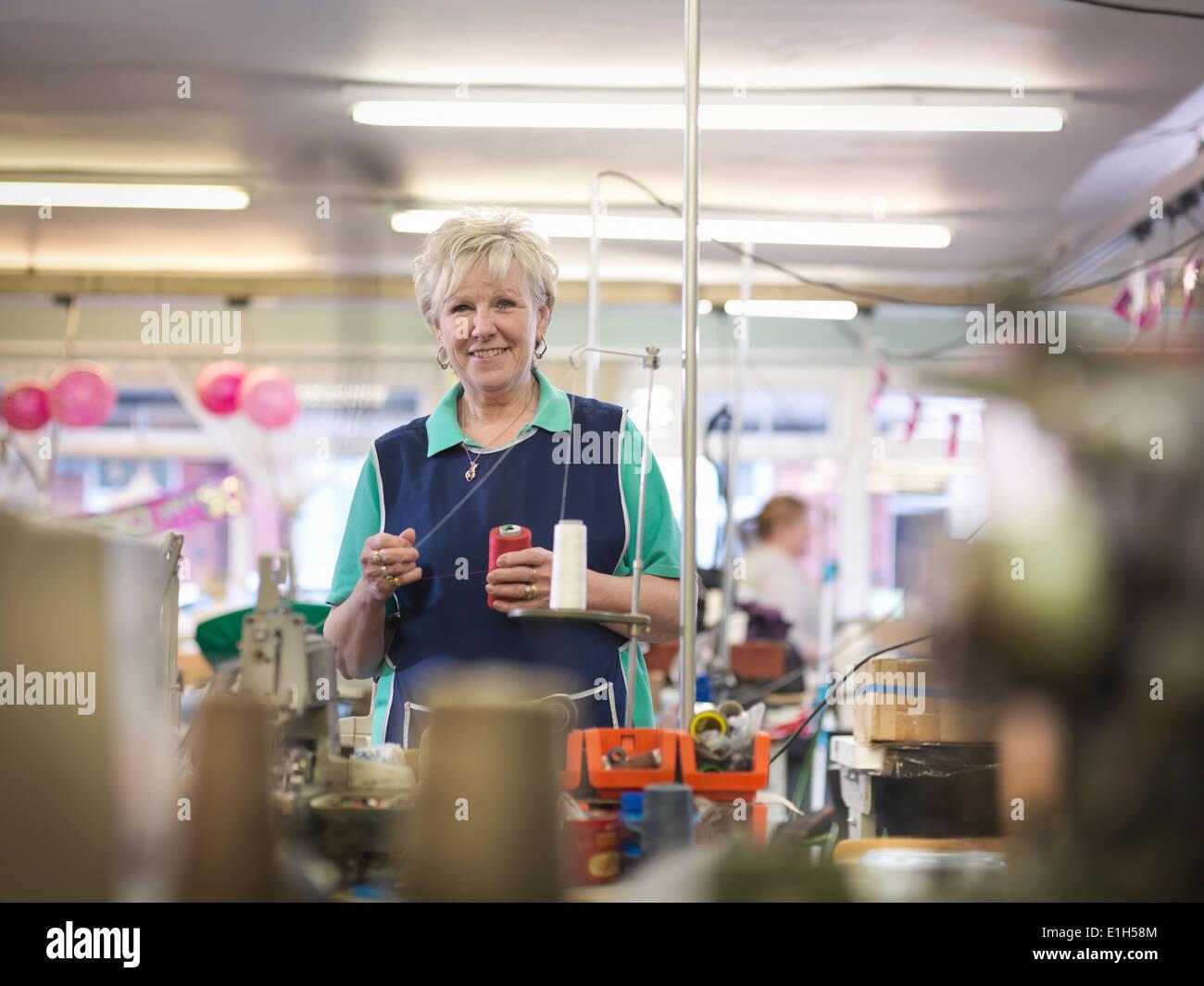 Leiterin der Kleiderfabrik, Porträt Stockbild