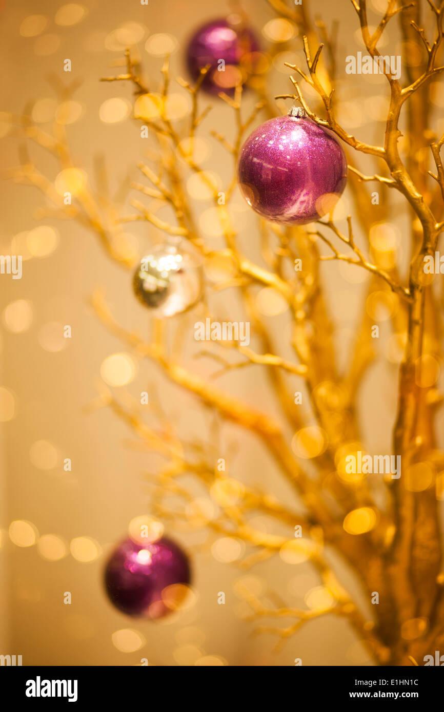 Frohe Weihnachten Winter Goldgrund - x-mas Kunst Design Stockbild