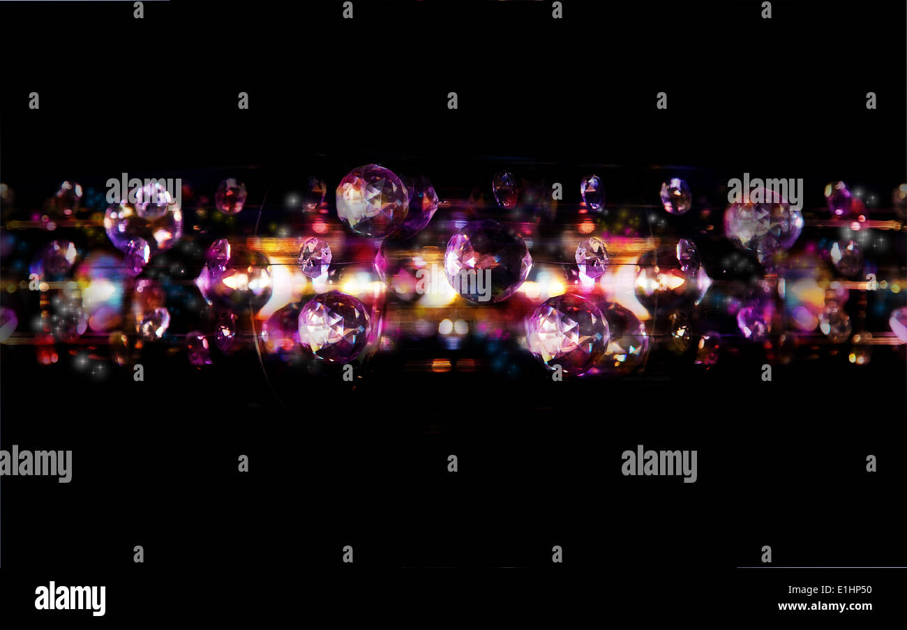 Magische Bubbles - Disco hell leuchtet Kunst Hintergründe Stockbild