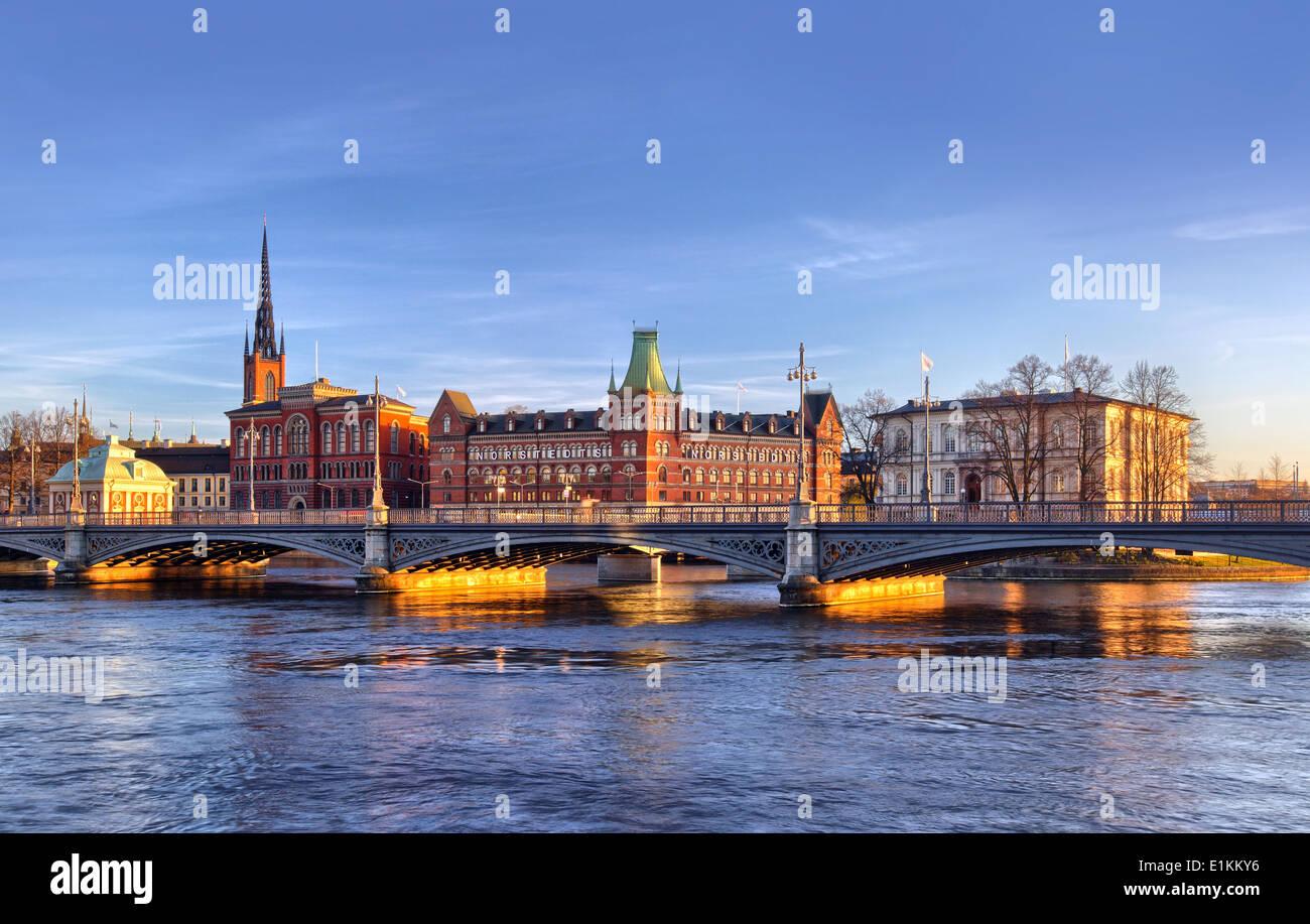 Malerische Panorama von Stockholm Stockbild