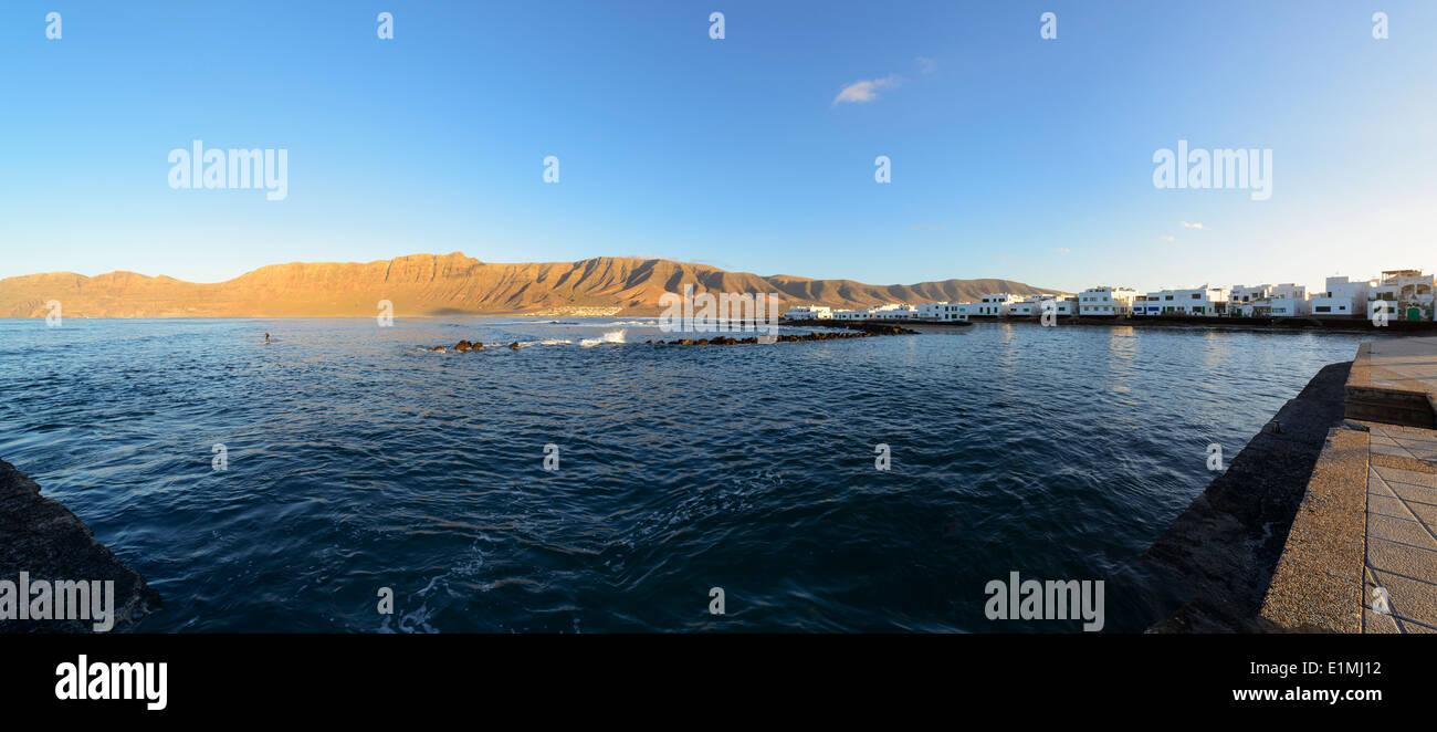 Famara, Lanzarote, Kanarische Inseln, Spanien. Stockbild
