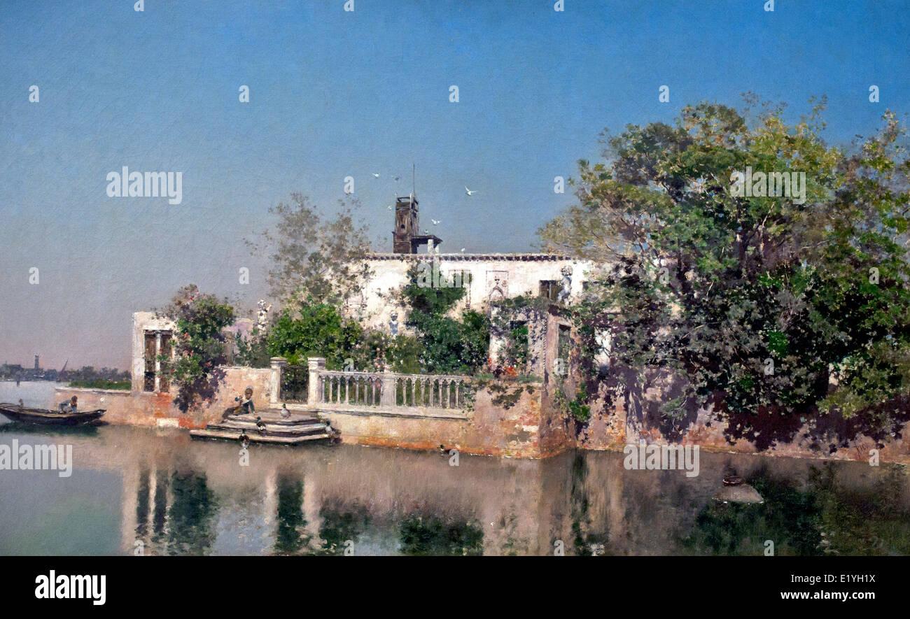 Venezianischen Landschaft von Martin Rico Ortega 1833-1908 Spanien Spanisch Stockbild
