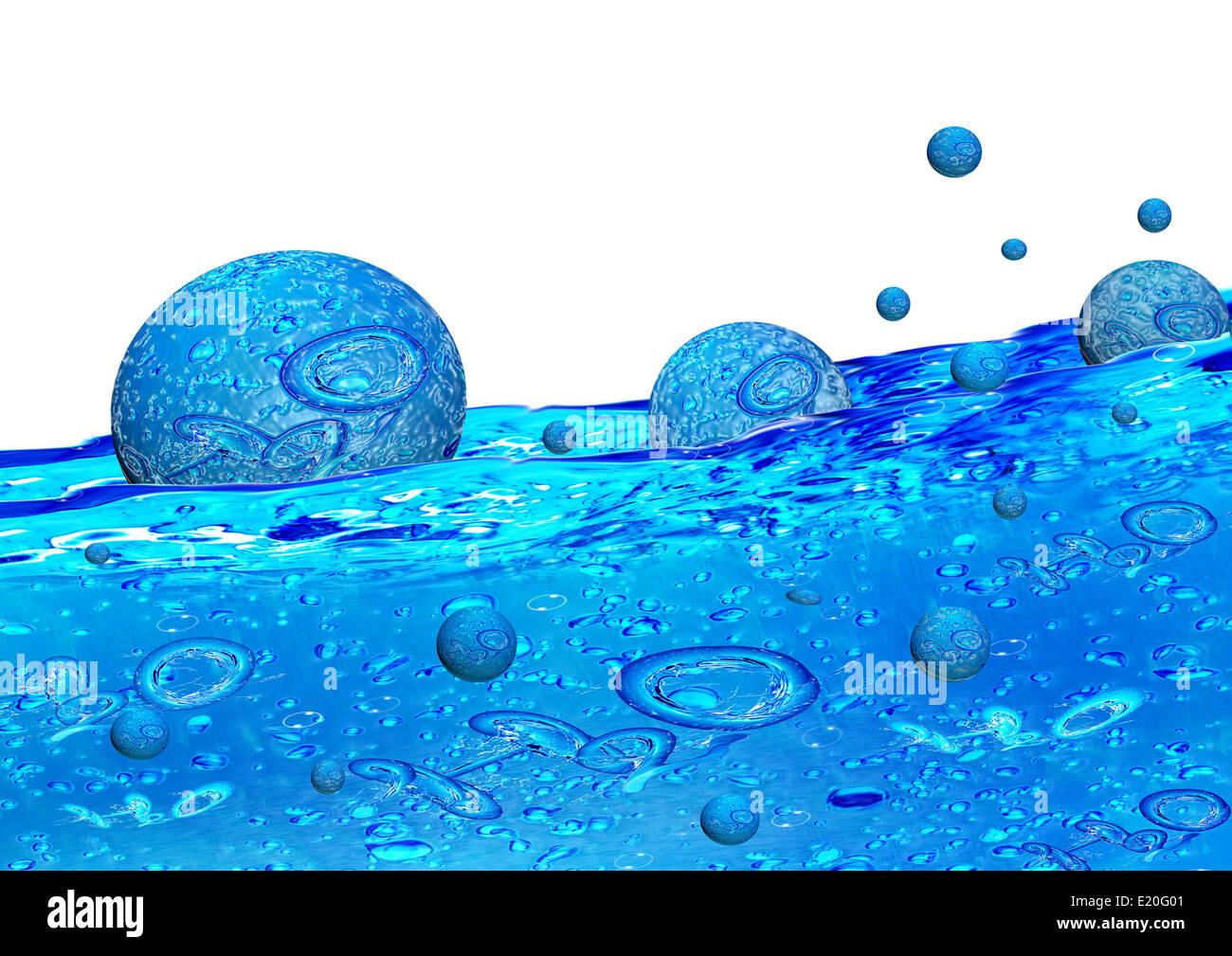 H2O WASSER Stockbild