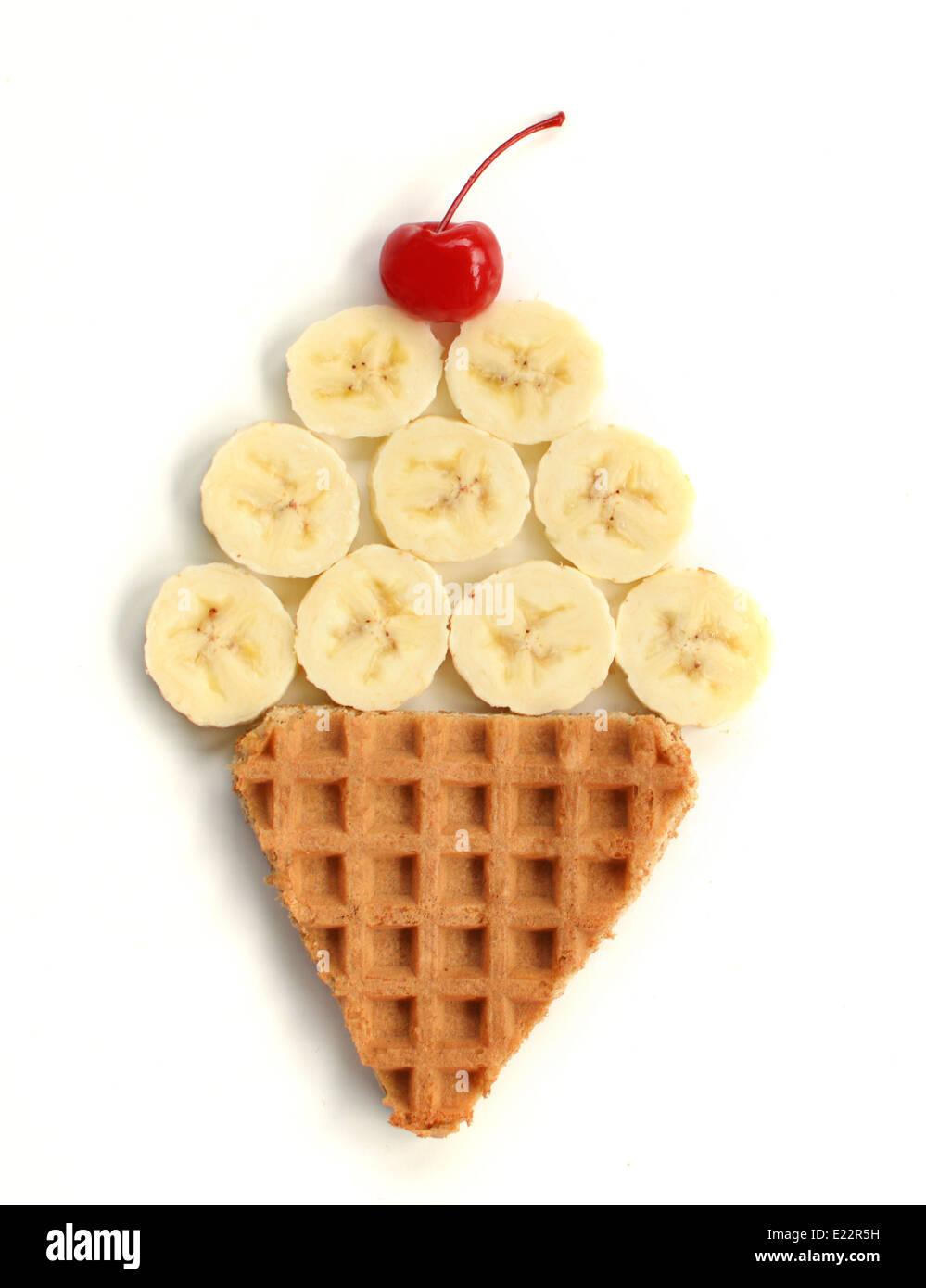Ice Cream Cone Essen Kunst Stockbild
