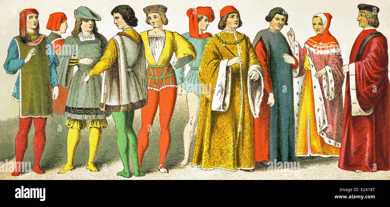 Venedig, zwei Florentines, Seite, Italienisch, Italienisch, Magistrat, Gelehrter, Florentiner Magistrat, venezianischer Stockbild