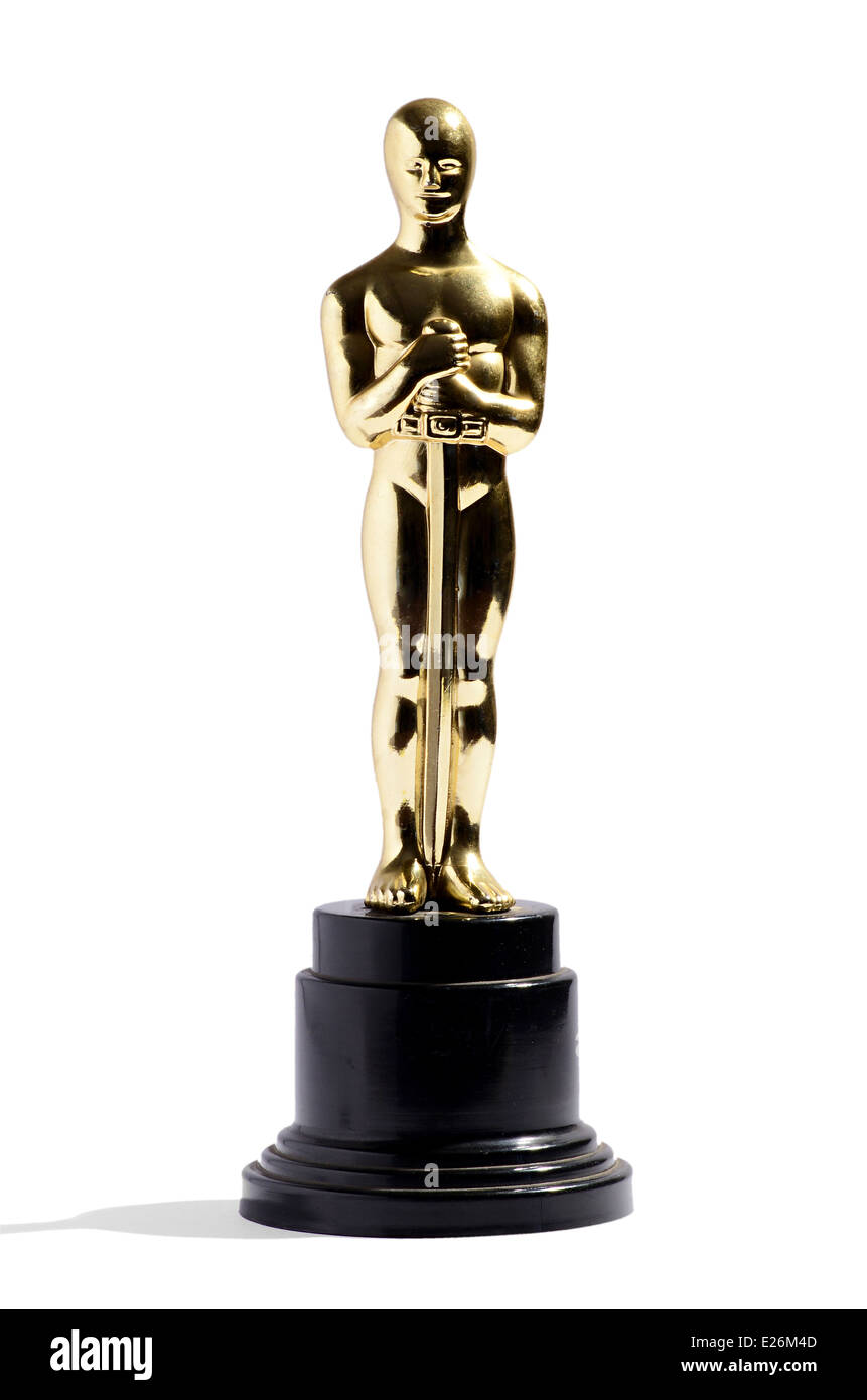 Nachbildung der Oscar-Verleihung Stockbild