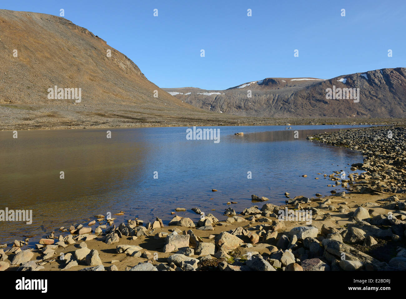 Grönland, Nuussuaq Halbinsel, Gletschersee Stockbild