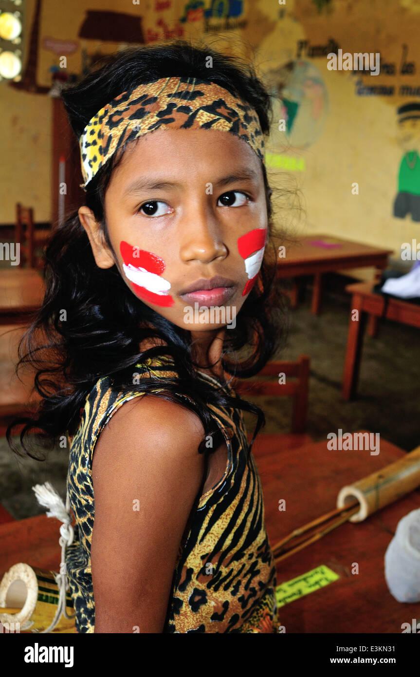Peru women showing skin and