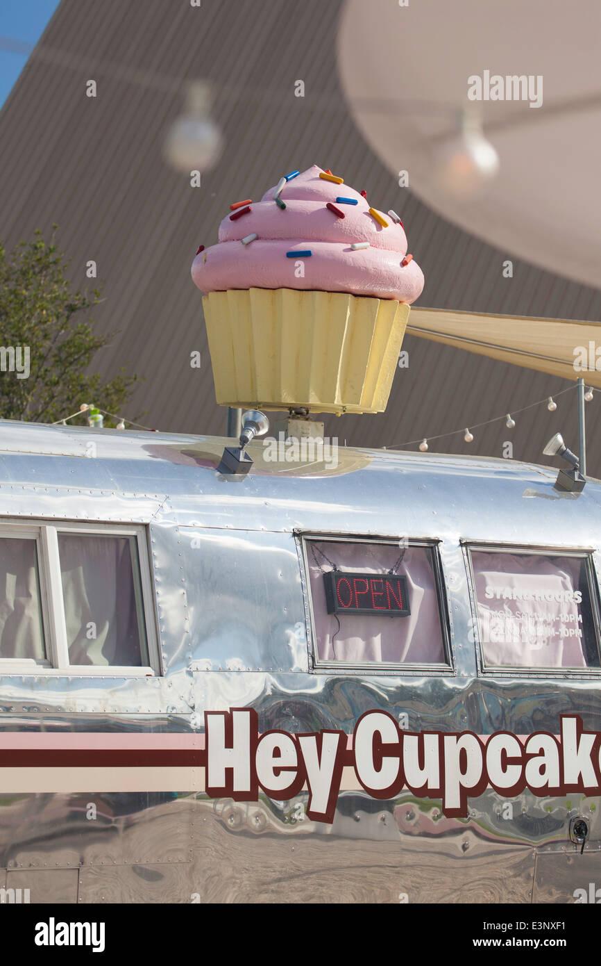 Cupcake Shop, Austin, Texas, Vereinigte Staaten von Amerika Stockbild