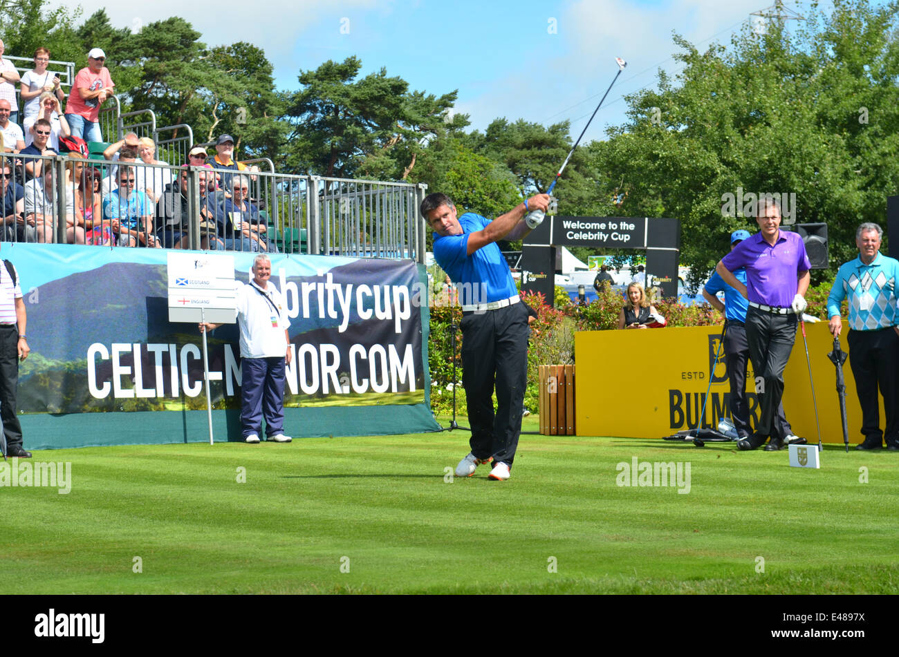 Golf.The Promi-Cup. Celtic Manor Resort in Wales.Kenny Logan Tees aus. Robert Timoney/AlamyLiveNews Stockbild