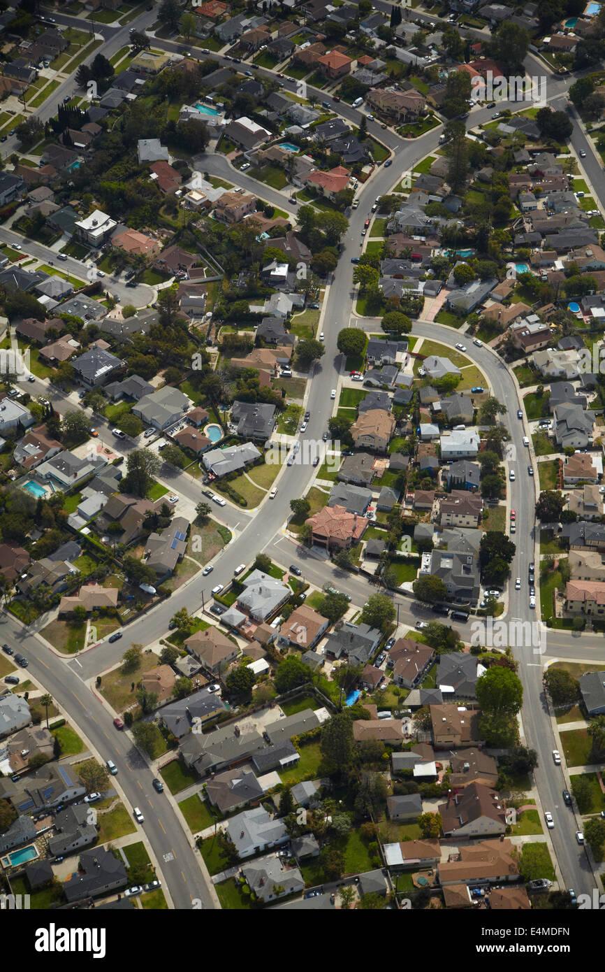 Westchester Nachbarschaft, Los Angeles, Kalifornien, USA - Antenne Stockbild