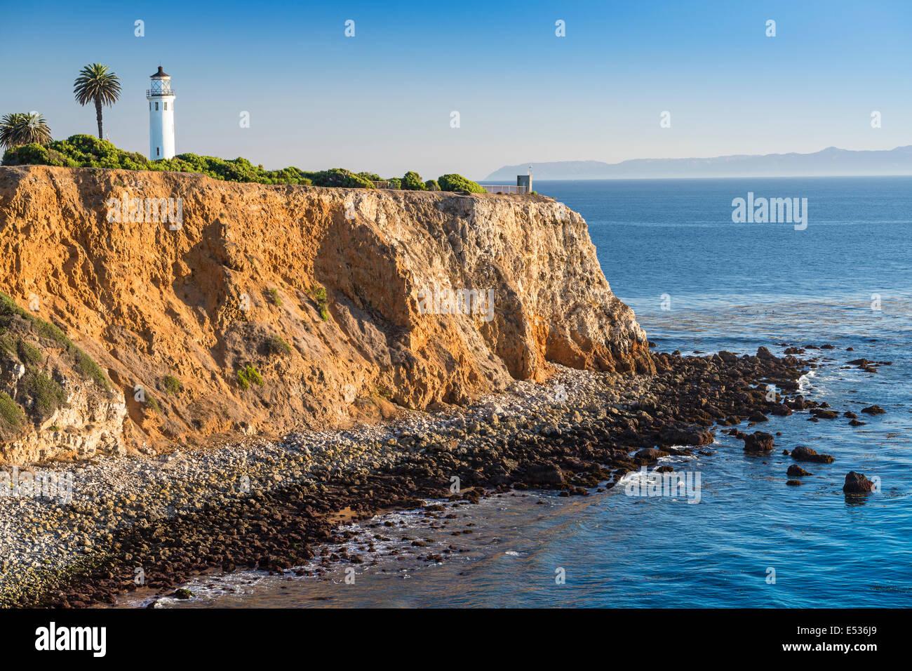 Los Angeles, Kalifornien, USA Point Vicente Leuchtturm in Rancho Palos Verdes. Stockbild