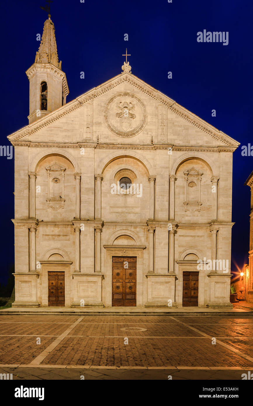 Pienza Duomo ? gebaut für Papst Pius II. in Pienza, Toskana, Italien Stockbild