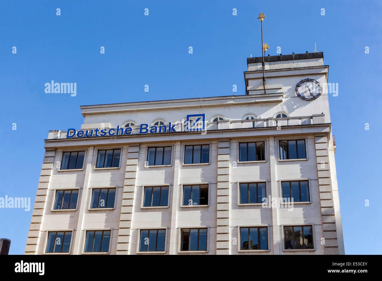 Deutsche Bank Gebäude am Jungmann-Platz in Prag Tschechische Republik Stockbild