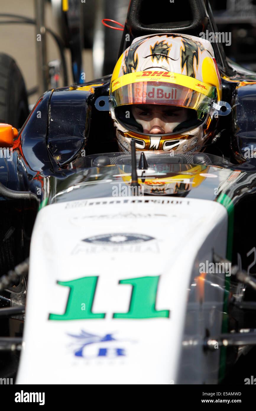 Magyorod, Hungaroring, Ungarn. 25. Juli 2014. GP2 und GP3-Rennserie am Hungaroring. Daniel Abt von hilmer Motorsport Stockbild