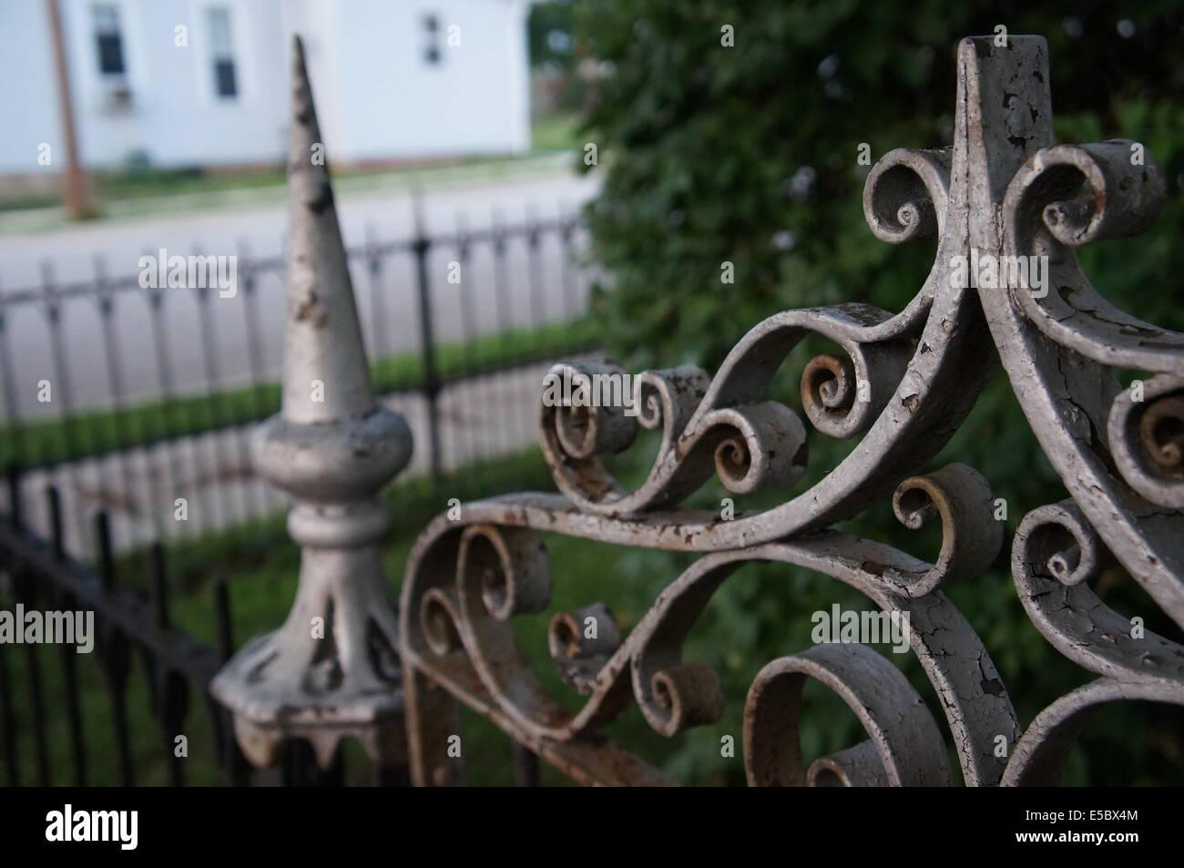 Alten rostigen Zaun Stockbild