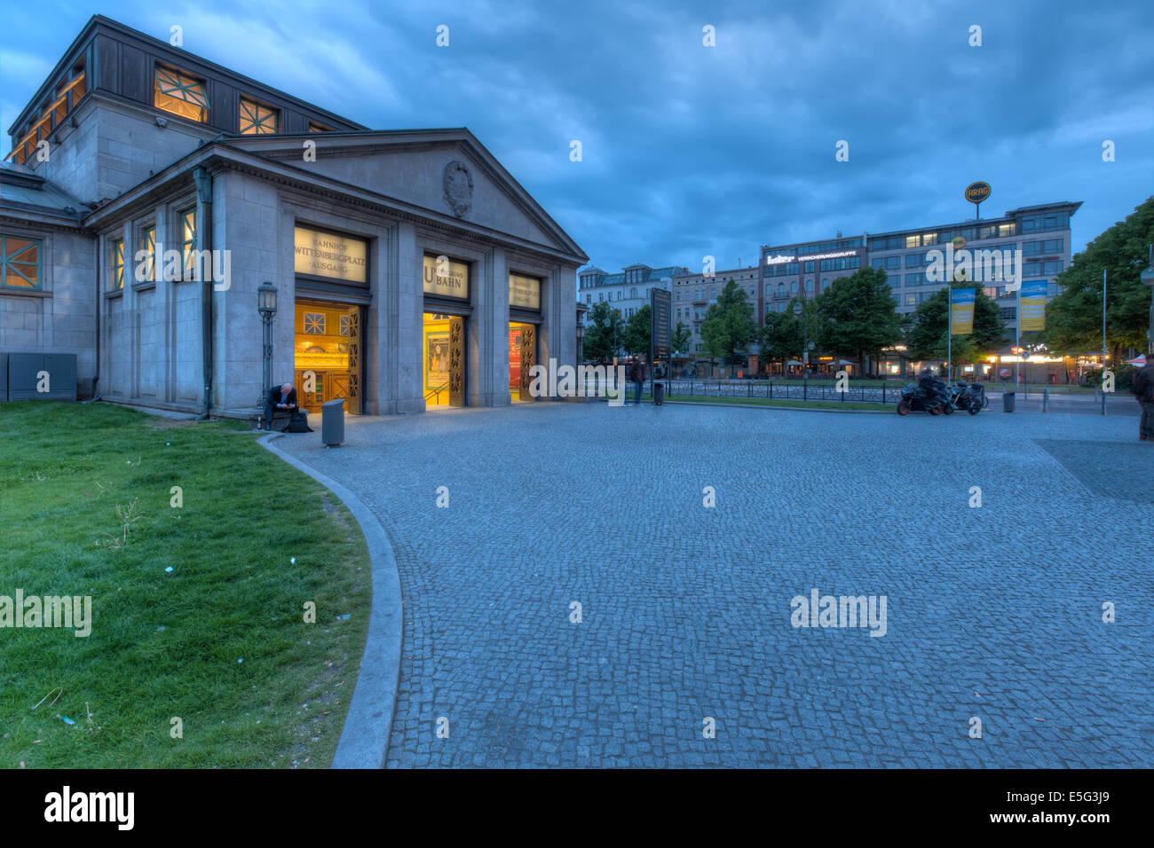 Die historischen Wittenbergplatz U-Bahnstation am westlichen Ende von Berlin-Mitte. Stockbild