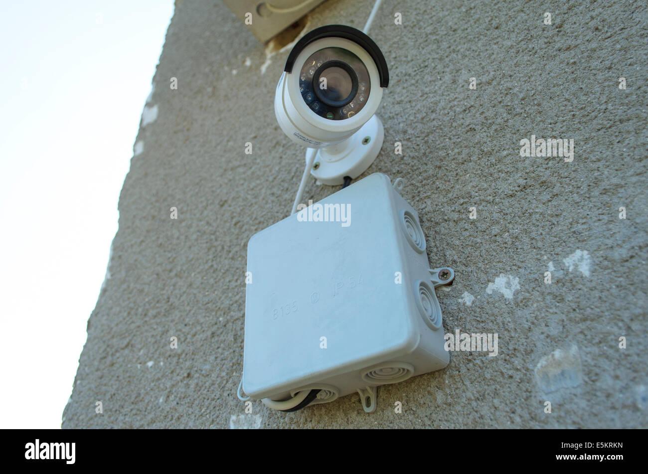 Tag & Nacht Farbe IP-Überwachungskamera Stockbild