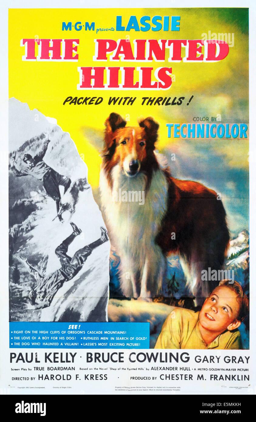 THE PAINTED HILLS, von oben: Lassie, Gary Gray, 1951 Stockbild