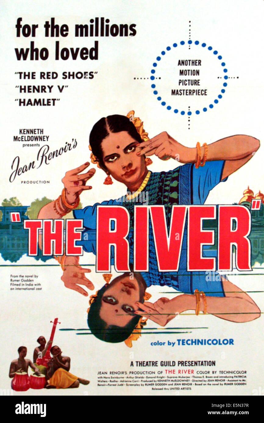 DER Fluss, 1951-Plakatkunst Stockbild