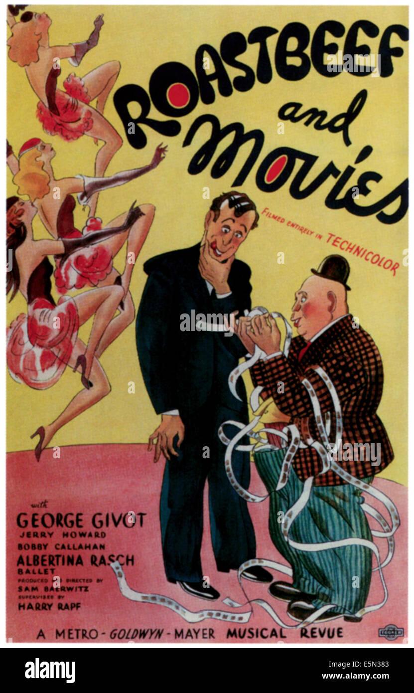 ROASTBEEF UND FILME, 1934 Stockbild