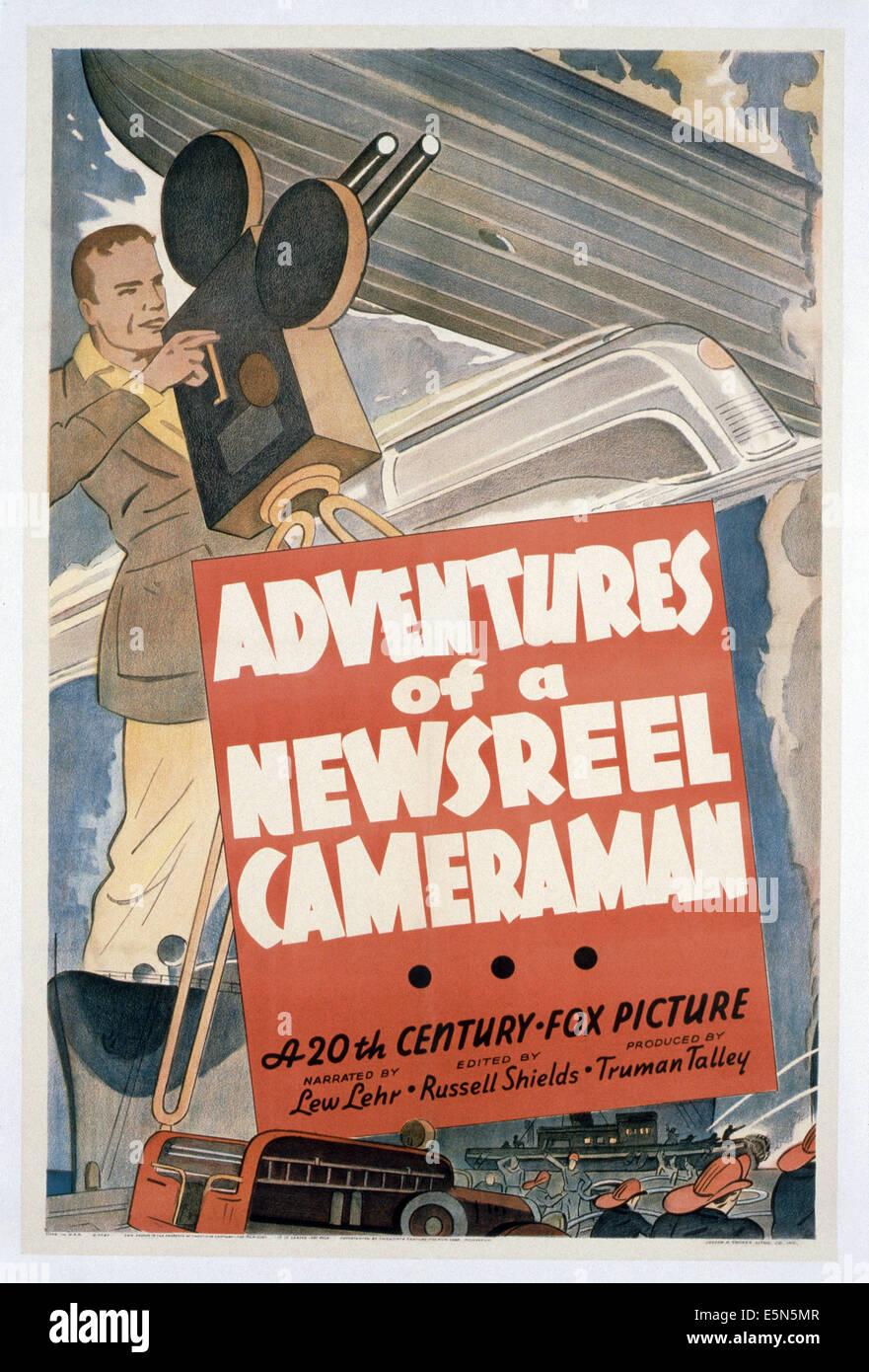 Abenteuer von A Wochenschau Kameramann, 1930er Jahre, TM & Copyright © 20th Century Fox Film Corp./Courtesy Stockbild