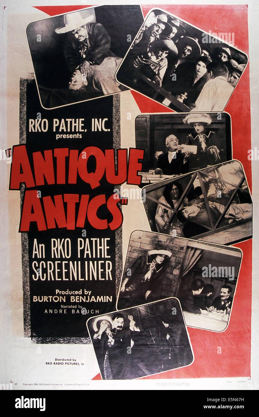 ANTIKE POSSEN, 1951 Stockbild