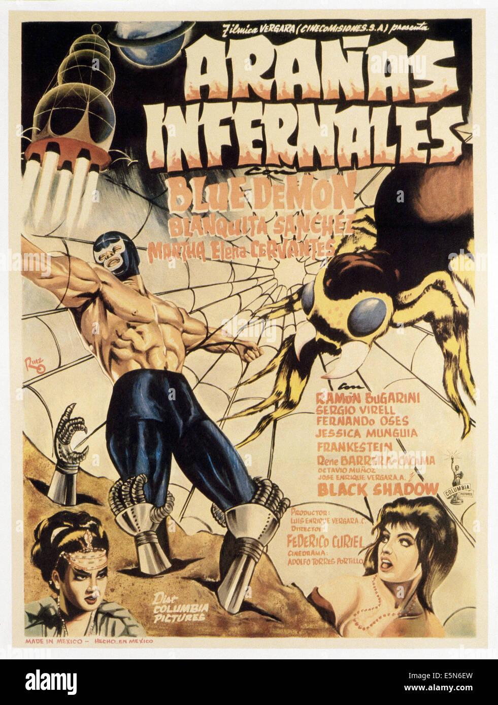 ARANÄS INFERNALES, (aka HÖLLISCHE Spinnen), 1968 Stockbild