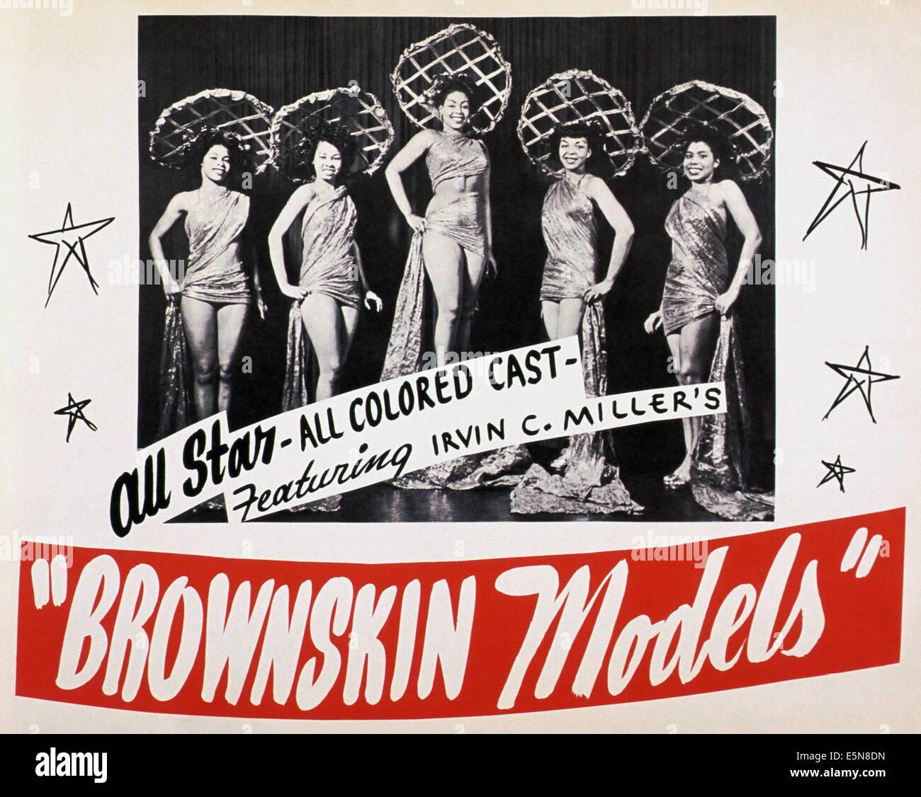 BROWNSKIN Modelle, ca. Anfang der 1950er Jahre Stockbild
