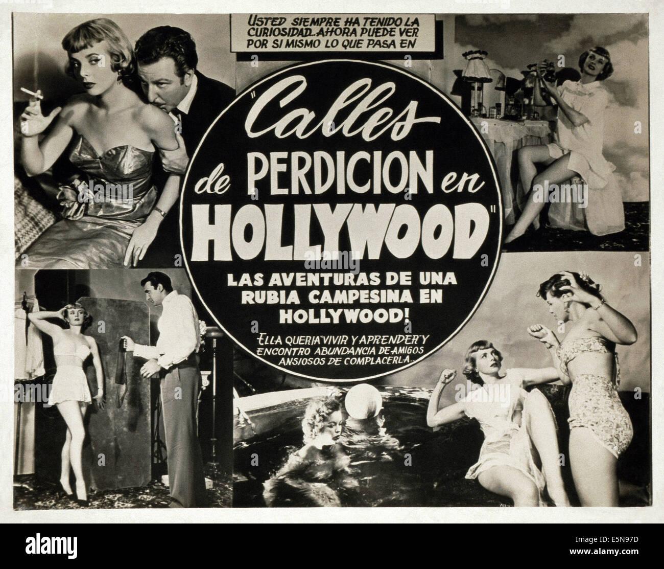 CALLES DE PERDICION EN HOLLYWOOD, (aka Strassen der Sünde IN HOLLYWOOD), ca. 1950er Jahre Stockbild