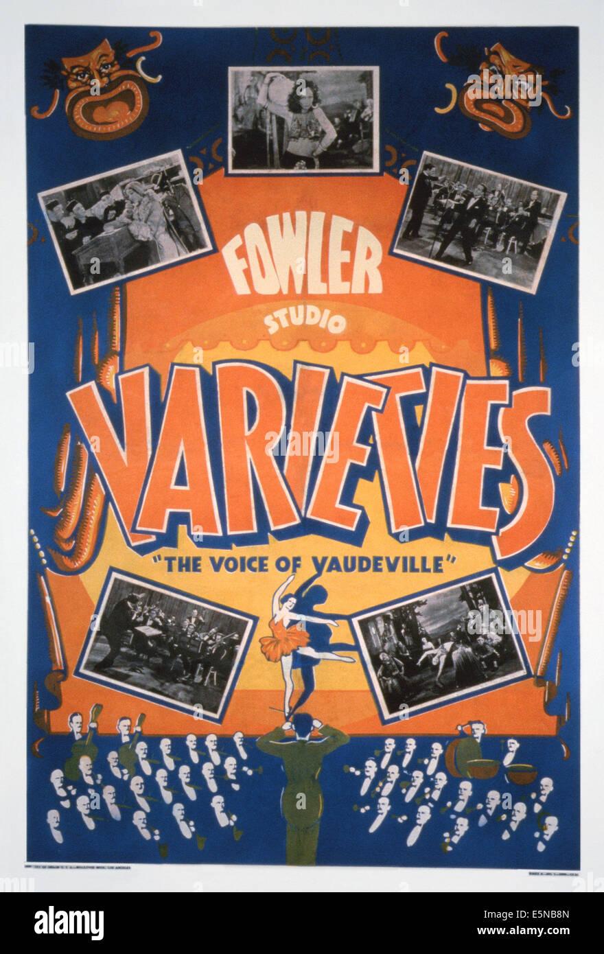 FOWLER STUDIO Sorten: Die Stimme des VAUDEVILLE, US Plakatkunst, ca. 1930er Jahre Stockbild