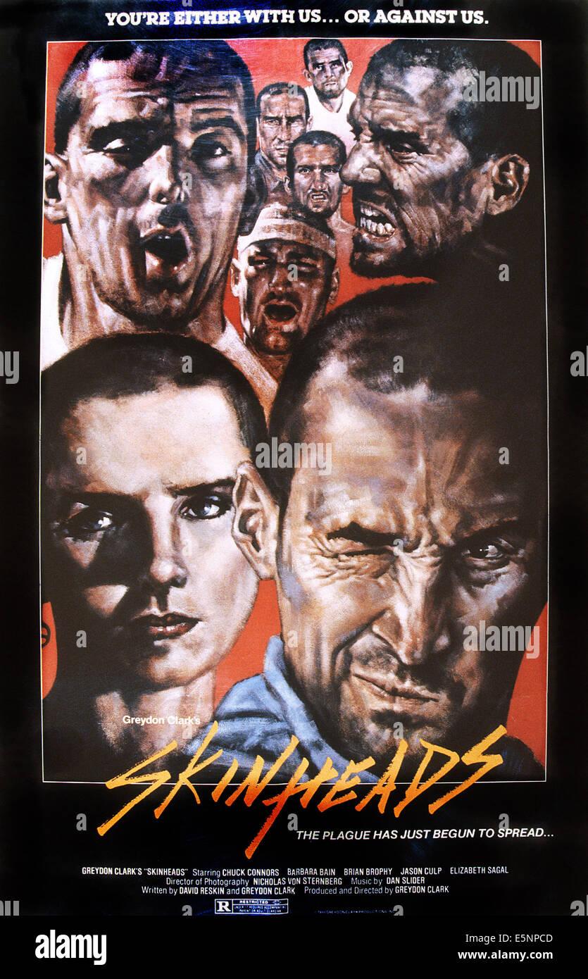 SKINHEADS, US Plakatkunst, 1989. © Amazing Filme/Courtesy Everett Collection Stockbild