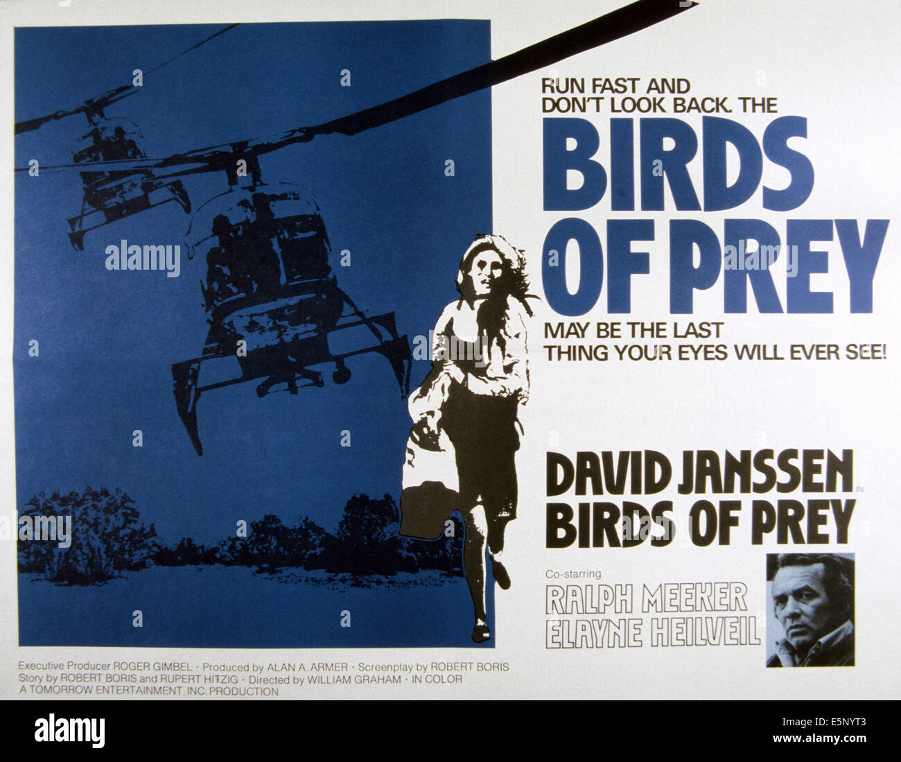 BIRDS OF PREY, David Janssen (unten), 1973 Stockbild