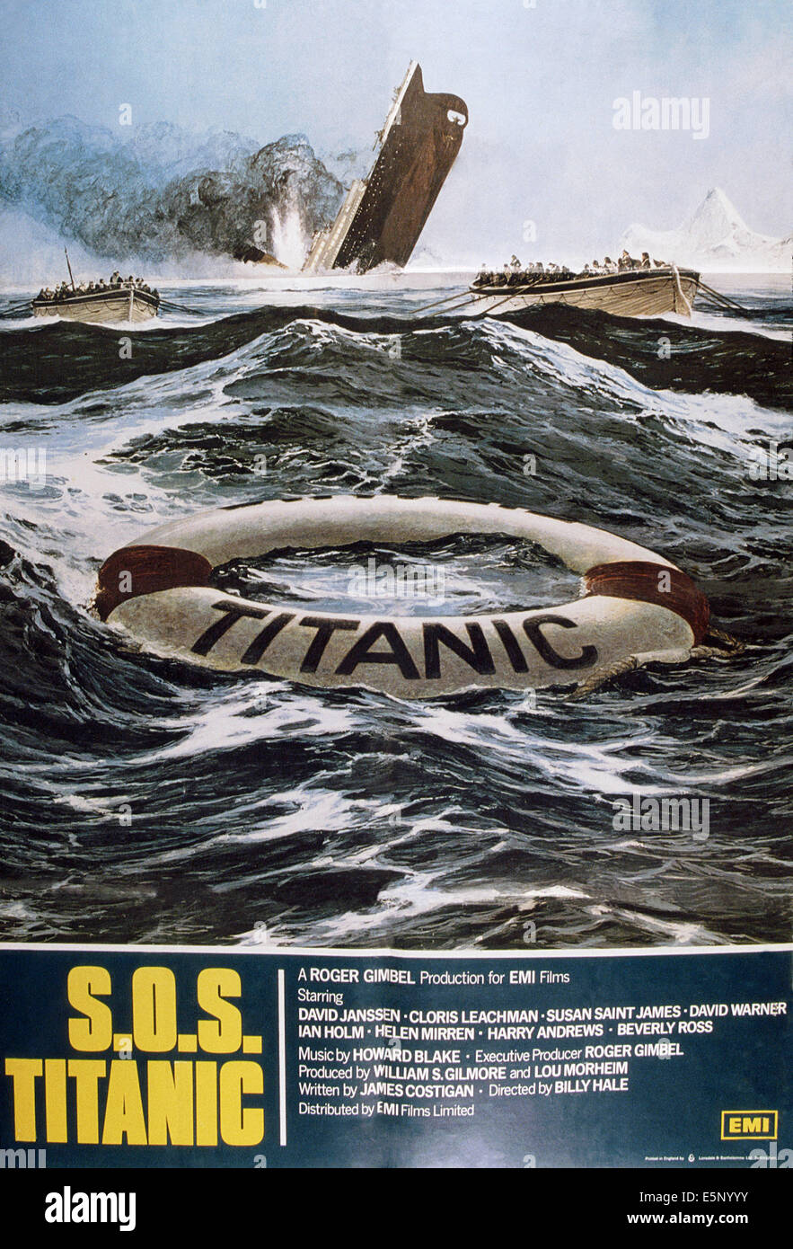 S.O.S. TITANIC, britische Plakat, 1979, © ABC/Courtesy Everett Collection Stockbild