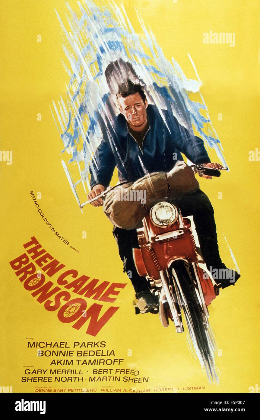 DANN kam BRONSON, US Plakatkunst, Michael Parks (Staffel 1, TV-Pilot), 1969 Stockbild
