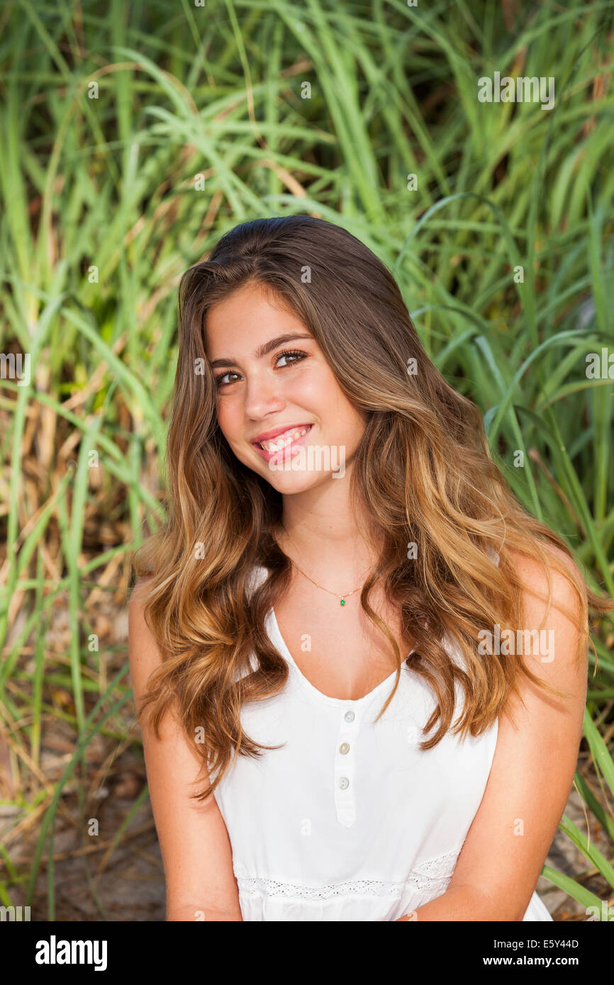 Teenager-Mädchen lächelnd Stockbild