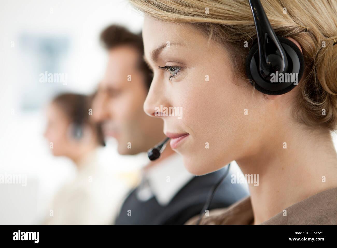 Office Worker multitasking Stockbild