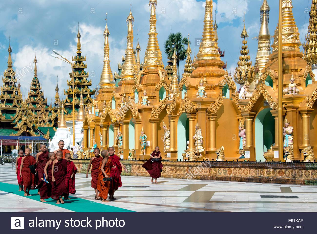 Shwedagon-Pagode Yangon Myanmar (Burma) Stockfoto