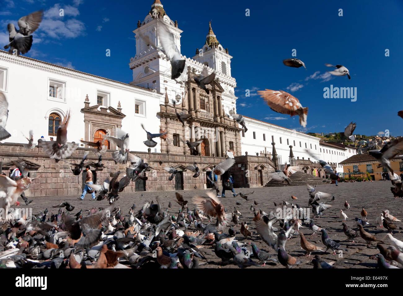 Plaza San Fransisco, Quito, Ecuador Stockbild
