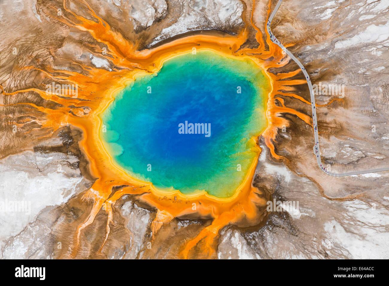 Grand Prismatic Spring, Midway Geyser Basin, Yellowstone-Nationalpark, Wyoming, USA Stockbild