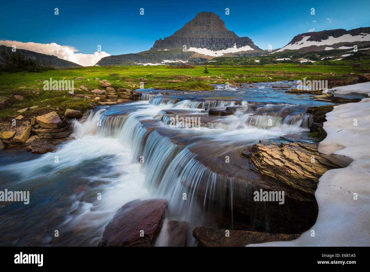 Logan Pass im Glacier National Park, Montana, in der Nähe der US-kanadischen Grenze Stockbild